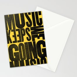 Music Keeps Me Going Stationery Cards
