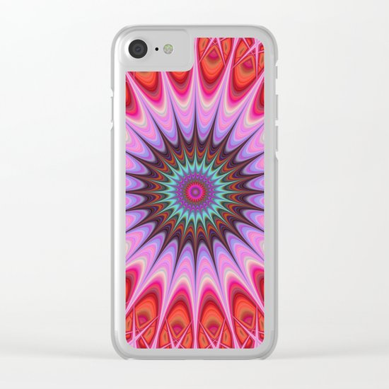 Quadrant mandala Clear iPhone Case