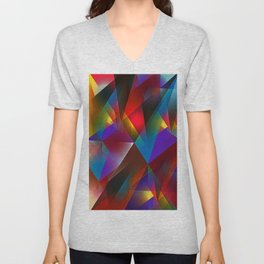 abstract neon Unisex V-Neck