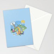 Rainbow Pasta Stationery Cards