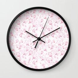 Winnie's Flower Garden Wall Clock