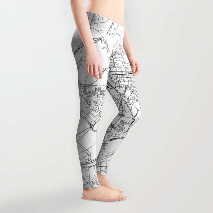 Seoul White Map Leggings