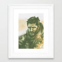 """mad max Framed Art Prints featuring Mad Max by Barbara """"Yuhime"""" Wyrowińska"""