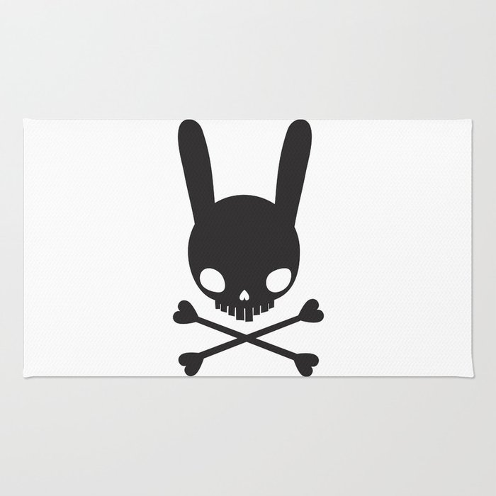 SKULL BUNNY OF PIRATES Rug