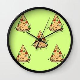 happy slice of pizza Wall Clock