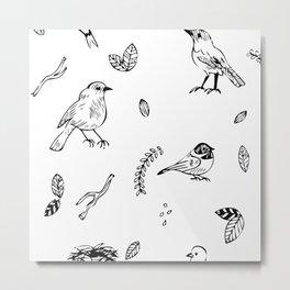 Birds and junk Metal Print