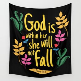 Christian Gift Priest Cross Design Bible Verse Wall Tapestry