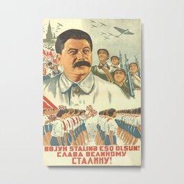 Vintage poster - Josef Stalin Metal Print