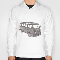 vw bus Hoodies featuring Tangled VW Bus - side view by Cherry Creative Designs