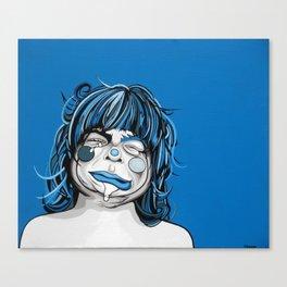 Little Blue Girl Canvas Print