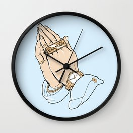 Thug Prayer Wall Clock