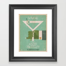 The Zombie Bachelor Framed Art Print