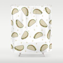 Tacos pattern food art taco design dorm college foodie Shower Curtain