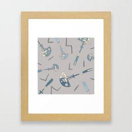 Trad Climbing Cams Pattern Framed Art Print