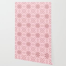 Maroon calligraphic pattern Wallpaper