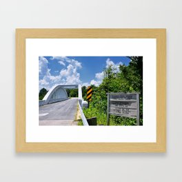 Marsh Arch Bridge on route 66. Framed Art Print