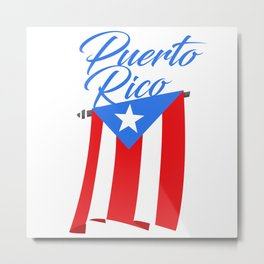 Big Puerto Rico Flag Metal Print