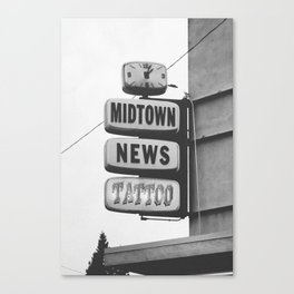 Midtown News Canvas Print