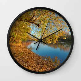 Golden Potomac Hour Wall Clock