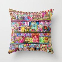 The Sweet Shoppe Throw Pillow