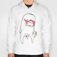 manatee Hoodies featuring measure manatee by withapencilinhand