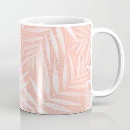 Elegant tropical white palm leaves paint Coffee Mug