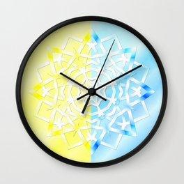 Mandala snowflake Wall Clock
