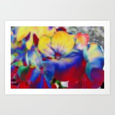 Abstract Flowes 01 Art Print