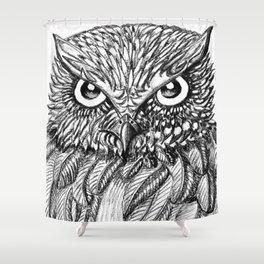 Fierce Owl Shower Curtain