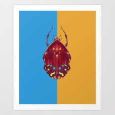 Art Deco Beetle Art Print