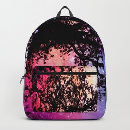 Black Trees Pink Purple Space Backpack