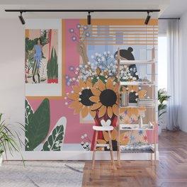 Plant Girl #5 Wall Mural
