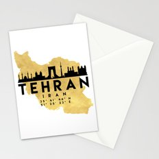 TEHRAN IRAN SILHOUETTE SKYLINE MAP ART Stationery Cards