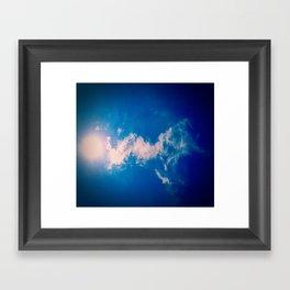 When the sun meets the cloud Framed Art Print