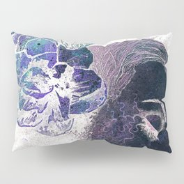 Obey Me: Negative (flower lady graffiti painting) Pillow Sham