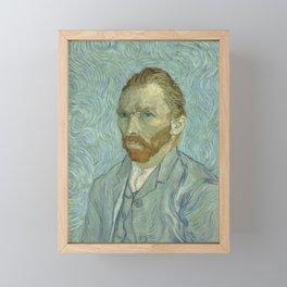 Vincent van Gogh - Self Portrait Framed Mini Art Print