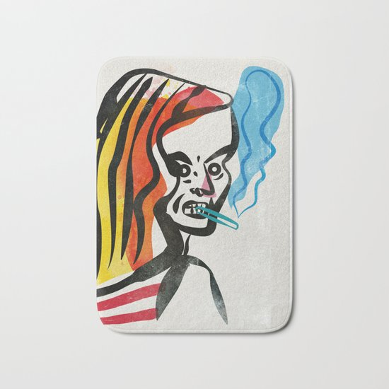 girl with a cigarette Bath Mat