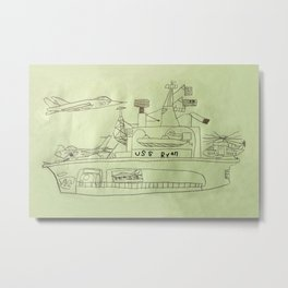 The USS Ryan Carrier Metal Print