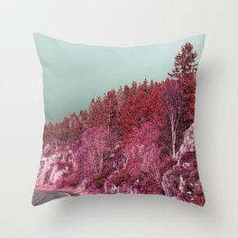 Pink Norway - The Forest Throw Pillow