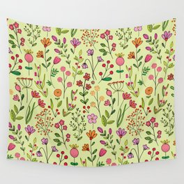 Doodles Botanical (pretty floral pattern) Wall Tapestry