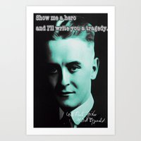 fitzgerald Art Prints featuring Francis Scott Fitzgerald by Guido prussia