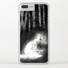 She Wails In Anguish Clear iPhone Case