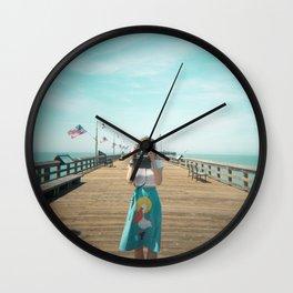 Camera Girl on the California Coast - Holga Photo Wall Clock
