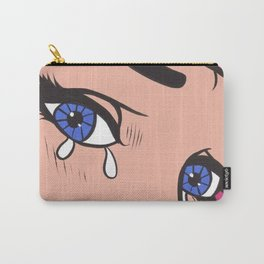 Blue Eyed Crying Comic Girl Carry-All Pouch