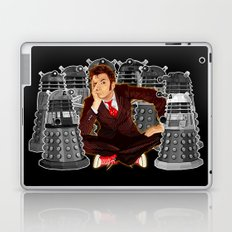 10th doctor who captured by mini daleks Laptop & iPad Skin