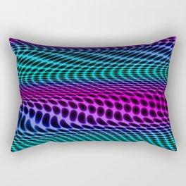Colorful Wavelines  Rectangular Pillow