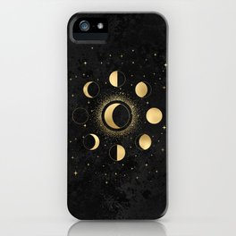Gold Moon Phases  iPhone Case