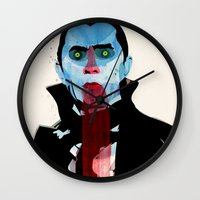 vampire Wall Clocks featuring Vampire by Alvaro Tapia Hidalgo