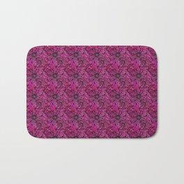 Project 196   Magenta Floral Zentangle Bath Mat