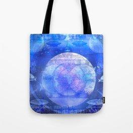 Dirigible Moon Tote Bag